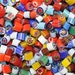 Millefiori - Assorted 3 to 4 mm Opaques 104 COE Hand-Made in Italy