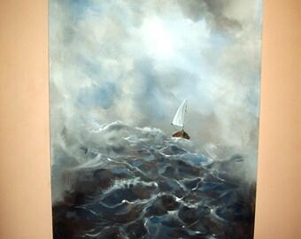 Original 36x24 Acrylic Seascape Painting