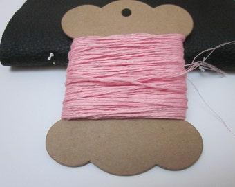 20m Blossom Pink Linen Twine