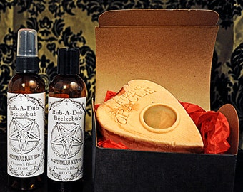 Sanitizing Oracle Ouija Planchette Soap w/ Body Oil & Body Spray Gift Set(choose fragrance: Pumpkin Pie, lavender lemongrass, + more)