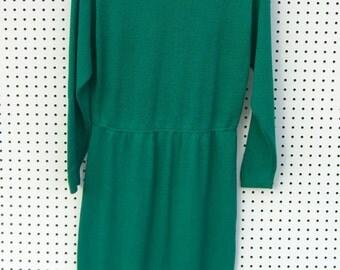 Lovely green knit dress.