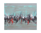 SALE Abstract 1144 - Huge Large Fine Art Abstract Acrylic Painting by Crystal Henson