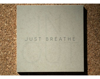Mantra Note Pad Just Breathe