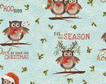 LAST YARD - Elizabeth's Studio - Owl Be Home for Christmas All Over