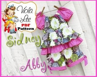 Sidney.....Peasant Top Pattern. Girl's Top Pattern. PDF, Girl's Sewing Pattern.  Girl's Ruffle Top Pattern,  Toddler Pattern