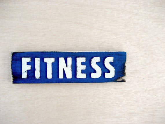 Fitness Motivation - Fitness Inspiration - Get Fit - Health and Fitness - Blue Sign - Exercise - Dazzling Blue - Word of the Year Resolution