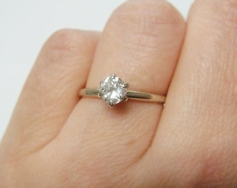 14k .43ct Diamond Engagement Ring / Promise Ring