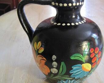 Mexican ceramic folk art vase