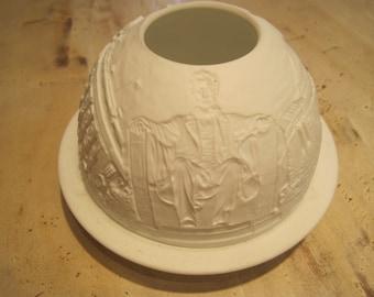 Bernardaud Limoges unglazed poreclain tea light
