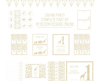 Golden Safari BABY SHOWER- Complete Party Kit by Bloom