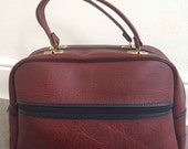 Reserved for Kate Hall 1979s/80s Oxblood Vintage Overnight Bag/Holdall