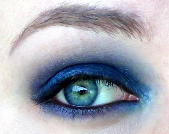 Oceanic Vegan Cream Eyeliner- Deep Sapphire Blue with White Diamond Shimmers