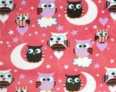 Owls, Minky Night Owls, Minky Owl, Owl Fabric, Minky Fabric, 1 Yard Fabric, 02030