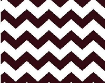 "EOB Clearance, 15"" Fabric, Small Chevron Fabric, Brown and White Fabric, Brown Fabric, Chevron Fabric, 02283"