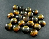 6pcs 10mm blue yellow tiger eye round cabochon special DIY jewelry findings supplies for ring,earrings 4110045