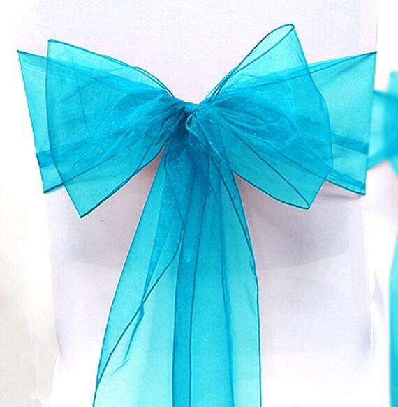Il_570xn & Chair Sashes Blue 100 Wedding Chair Sashes Chair Bows Turquoise ...