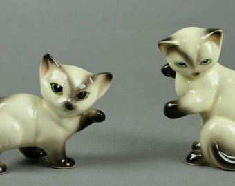Playful Siamese Kittens made in Japan - Free Shipping in USA