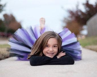 """Purple & black tutu """"Louise"""" purple black tutu, girls tutu, size 2, 3, 4, spider halloween vampire 2T, 3T, 4T, toddler tutu pirate tutu"""