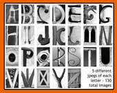 Alphabet photography DOWNLOAD - DIY Anniversary Birthday Wedding Gifts - Nature and Architectural Letters