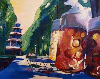 Munich Chinese Tower Beergarden in English Garden