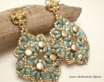 How to make Pellet  earrings, Jasper earrings,earrings tutorial with Superduo and Pellet beads