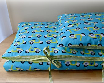 SALE - 14% Discount! - Organic Toddler Duvet Cover & Pillow Sham, Crib Bedding, Monaluna Fabrics