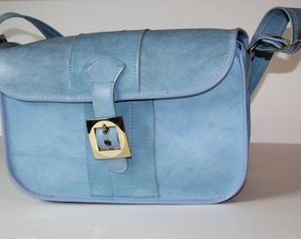 Vintage Blue Large Carryon Overnight Weekend Bag