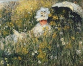 In the Meadow Claude Monet  - Counted Cross Stitch Kit - DMC materials