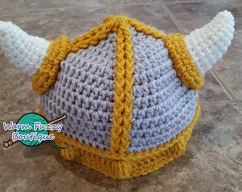 Lael Viking Hat - 2 Toned Colors - Light Grey Gold - Newborn Baby Beanie Boy Girl Winter Christmas  Photo Prop Cap Outfit