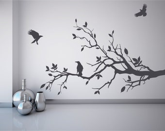branch wall decal etsy. Black Bedroom Furniture Sets. Home Design Ideas