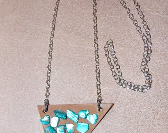 Leather & Stone Necklace