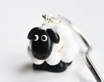 Sheep Bookmark, Fimo, Polymer Clay