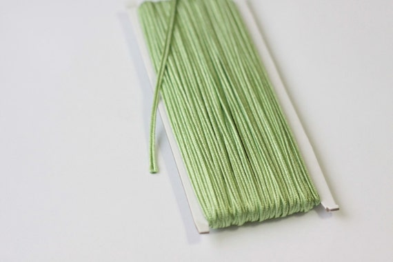 5.5 yards  green Soutache Braid, Passementerie Braid, Passementerie cord, Passementerie Trim, soutache embroidery, gimp cord