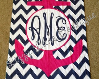 Custom Personalized Monogrammed Beach Towel - FREE SHIPPING!