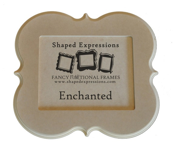 8x10 curvy picture frame - Enchanted unfinished