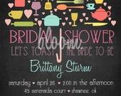 Umbrella Wedding Shower Invitation