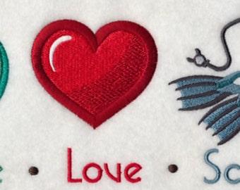 Custom Embroidered Scuba Dive Sweatshirt S-3XL
