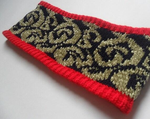 Machine Knit Headband Pattern Knitting PDF Modern Swirly Fair Isle ...