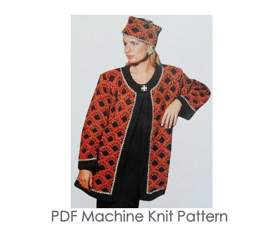 Knitting Pattern Evening Jacket : Luxury Jacket Pattern Machine Knitting Pattern Evening
