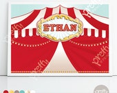 Printable Backdrop | Circus Up in Lights | Personalised Digital PDF