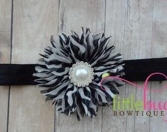 Black White Headband, Zebra Headband, Chevron Headband, Wedding, Newnorn, Cake Smash, Girls, Toddler, Baby, Maternity, Gift, Easter