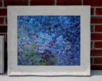 Abstract Painting, Original Painting, 16X20 Canvas, Textured Wall Art, Framed Painting, Blue Painting, Modern Art, Impressionist, Art Deco