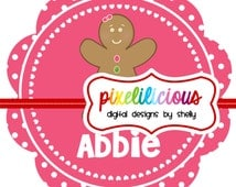 DIY Printable Personalized GINGERBREAD Iron On Transfer - Digital Image for Onesies or Bibs or Tshirts
