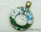 Three Totoro's Polymer Clay Pendant