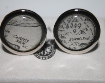 Game of Thrones//Baratheon and Lannister //Casterly Rock and Storm's End //Literature Cufflinks/ ASOIAF