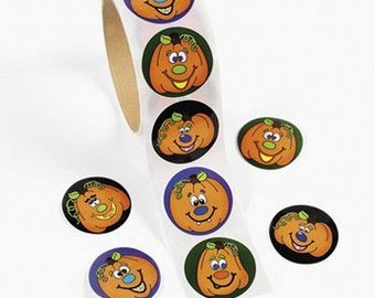 Halloween Jack-O-Lantern Stickers (100pc)