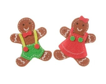 12 Gingerbread Foam Feltie Stickers