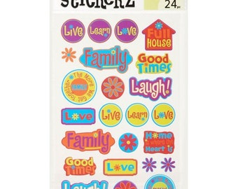 72 Live, Love and Laugh Stickers
