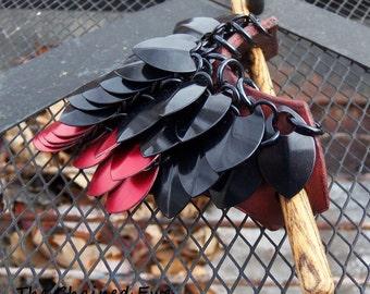The Shaggy Dragon, Large Shield Maiden Barrette, Custom Colors