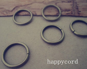 100pcs of Antique Bronze Jump Rings 1.8mmx16mm